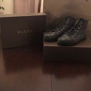 Authentic Gucci high top shoes